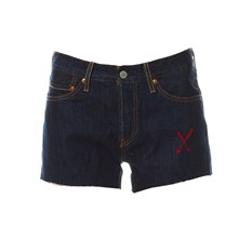 501 - Short - denim bleu