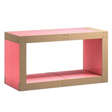 Table basse modulable - rose