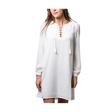 Maely - Robe fluide - blanc