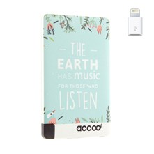 Earth is Music - Chargeur Nomade pour Smartphones - bleu clair