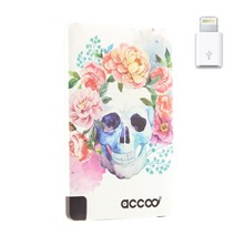 Skull Flowers Dream - Chargeur Nomade pour Smartphones - blanc