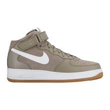 Air Force 1 - Baskets montantes en cuir - gris