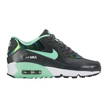 AIR MAX 90 SE LTR (GS) - Tennis en cuir - anthracite