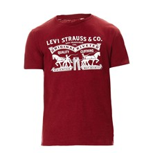 2-Horse Graphic tee - T-shirt - rouge