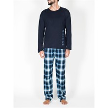 Ensemble pyjama long - bleu marine