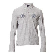 Polo manches longues - gris chine