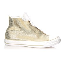 CTAS CLASSIC SHROUD HI LIGHT GOLD/WHITE - Baskets montantes