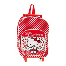 Hello Kitty - Sac à dos à roulettes - rouge