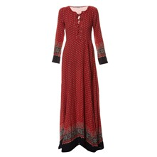 Robe fluide - rouge
