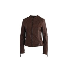 Mary - Veste en cuir - marron