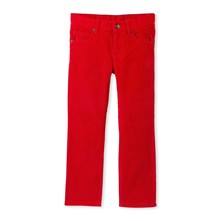 Pantalon en velours - rouge