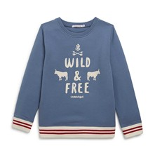 Sweat-shirt - bleuet