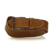 Basic Stitched - Cintura in pelle - cognac
