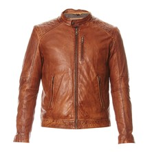 Agency - Blouson en cuir - marron