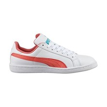 JR SMASH FUN L.WHT/R - Baskets en cuir - blanc