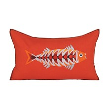 Pablo Orange - Housse de coussin en lin - orange