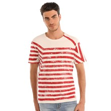 Lined up - T-shirt - rouge