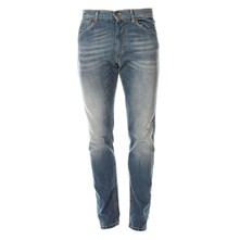 Jean slim low crotch - bleu