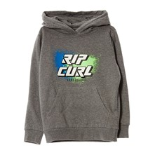 Slant logo hooded fleece - Sweat à capuche - gris