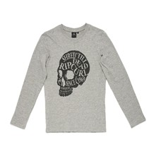 Ml Head Skull Ls Tee - T-shirt - gris