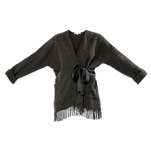 Edition - Poncho en laine - anthracite