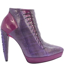 Adriana - Bottines en cuir - pourpre
