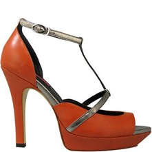 Alina - Escarpins en cuir - orange