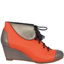 Felisa - Low-boots en cuir - orange