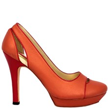 Mona - Escarpins en cuir - orange