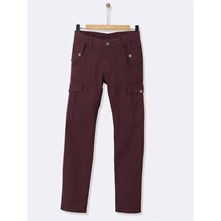 Pantalon cargo - bordeaux