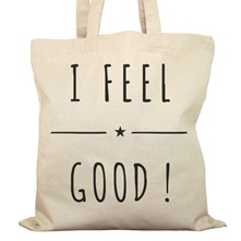 I feel good - Sac à main - ecru
