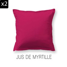 Lot de 2 taies d'oreiller - de Myrtille