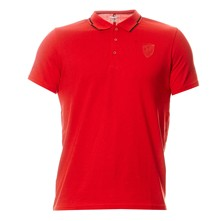 Text Hom - Polo - rouge