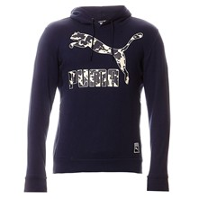 Text Hom - Sweat à capuche - bleu marine
