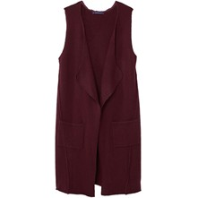 Gilet long sans manches - bordeaux