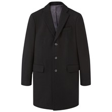 Tailored - Manteau en laine mélangée - noir