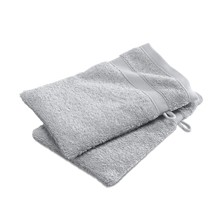 Lot de 2 gants de toilette - 450 g/m²