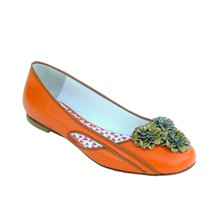 Ynterlude Gogh - Ballerines en cuir - orange