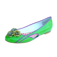 Ynterlude China - Ballerines en cuir - vert