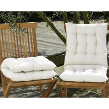 Lot de 2 coussins de chaise - blanc