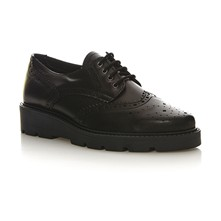 Josette Lace Up - Derby in pelle - nero