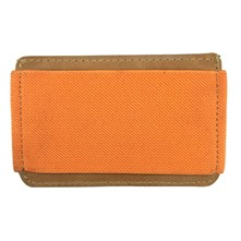 Porte cartes ne cuir - orange