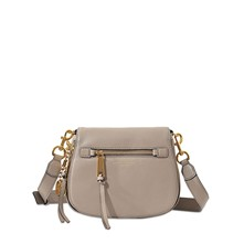 Recruit Small Saddle - Besace en cuir - gris clair