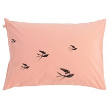 Birds - Lot de 2 taies d'oreiller - rose