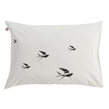 Birds - Lot de 2 taies d'oreiller - gris