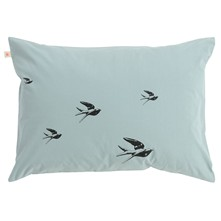Birds - Lot de 2 taies d'oreiller - bleu