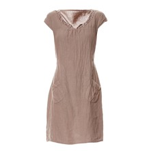Robe fluide - taupe