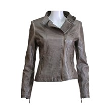 Keith - Blouson style biker - taupe