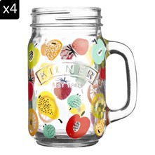Set de 4 mugs - transparent