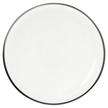 SD One - Lot de 3 assiettes plates rondes - blanc